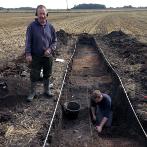 Der Sondengänger Graham Vickers (li.) und sein PAS-Kontaktarchäologe Adam Daubney. Foto: University of Sheffield.