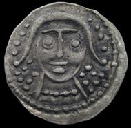 Etwa 100 solcher Silbermünzen (sceat) wurden gefunden. Foto: Portable Antiquities Scheme.
