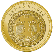 Spain / 100 Euros / Gold .999 / 6.75g / 23mm / Mintage: 2,500.