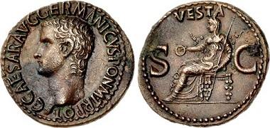 Lot 431914: Roman Republic. Gaius (Caligula). AD 37-41. As. $2,450.