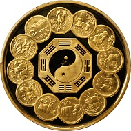 Lot 61192: China, 2000 Yuan, 1992. Lunar Series, Completion of Lunar Cycle. PCGS Proof-64 Deep Cameo Secure Holder. Cf. Fr-B63; KM-427. Extremely rare. Estimate: $240,00-$280,000.