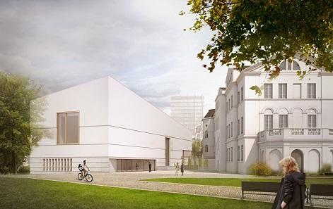 Jüdisches Museum: Ansicht. Bild: © Staab Architekten.