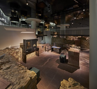 Museum Judengasse: Blick ins Steinerne Haus. Foto: © Norbert Miguletz, Jüdisches Museum Frankfurt.