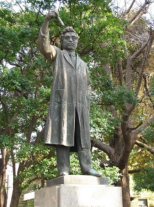 Statue of Hideyo Noguchi in Ueno Park, Tokyo. Photograph: Jnlin / http://creativecommons.org/licenses/by-sa/3.0/