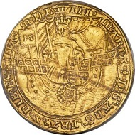 Lot 32293: Great Britain. Mary (Sole Rule, 1553-1554), Ryal, 1553. Tower mint. S-2489, North-1957 (ER), Schneider-709 (same dies). Estimate: $140,000-$160,000.