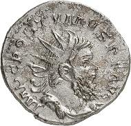 Lot 526: Postumus. Antoninian, unbestimmte Münzstätte, 263. Zweites bekanntes Exemplar. Sehr schön. Schätzung: 4.500 Euro.