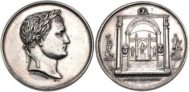 Lot 630: France, Premier Empire. Napoleon I. 1804-1814. Medal. Bramsen 370. Good Very Fine, cleaned, scattered marks. Estimate: $100.