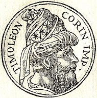 Timoleon from a work of Guillaume Rouille from 1553. Source: Wikipedia.