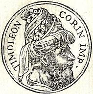 Timoleon aus einem Werk des Guillaume Rouille von 1553. Quelle: Wikipedia.