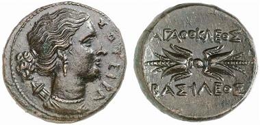 Syrakus. Agathokles. Bronze, ca. 305-295. Aus Auktion Gorny & Mosch 208 (2012), 1164.