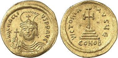 Heraclius, 610-641. Solidus, 610-613. From Gorny & Mosch auction sale 237 (2016), 2215.