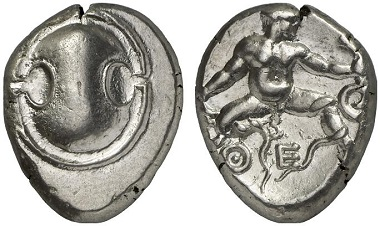 Thebes. Stater, 405-395. From Künker auction sale 182 (2011), 218.