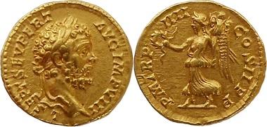 Römische Kaiserzeit, Septimius Severus, Aureus.