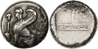 Griechenland. Ionia, Chios, Tetradrachme.