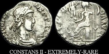 Römische Kaiserzeit. Constans II. Siliqua.