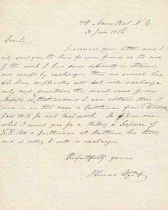 Letter of June 20, 1856.