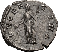 Lot  246: Manlia Scantilla, denarius.