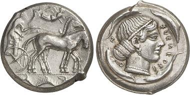 Syrakus. Tetradrachme, 450-440. Aus Auktion Gorny & Mosch 236 (2016), 61.