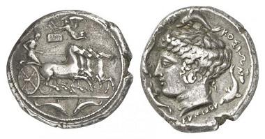 Syrakus. Tetradrachme, 405-395. Aus Auktion Künker 174 (2010), 130.