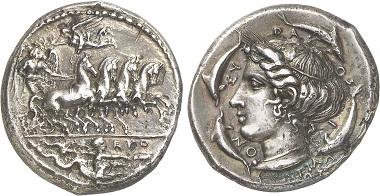 Syrakus. Tetradrachme, 413-409. Aus Auktion Gorny & Mosch 236 (2016), 65.