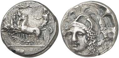 Syrakus. Tetradrachme, 413-399. Aus Auktion Künker 262 (2015), 7064.