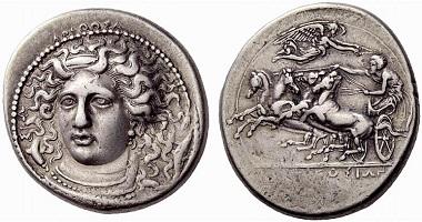 Syrakus. Tetradrachme, 406-400. Aus Auktion Numismatica Ars Classica 54 (2010), 56.