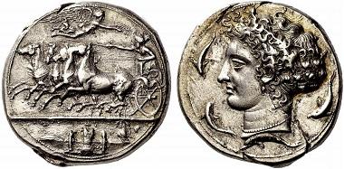 Syrakus. Dekadrachme, 404-400. Aus Auktion Numismatica Ars Classica 66 (2012), 12.