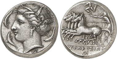 Syrakus. Tetradrachme, 310-300. Aus Auktion Gorny & Mosch 236 (2016), 81.