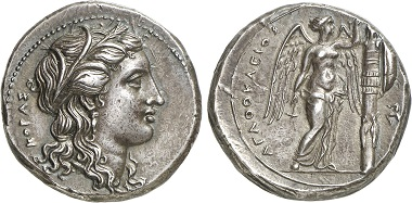 Syrakus. Tetradrachme, 305-295. Aus Auktion Gorny & Mosch 228 (2015), 37.