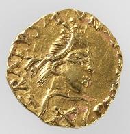 Merowinger. Triens des Münzmeisters Gratus, 600-650. Foto: Schweizerisches Nationalmuseum.