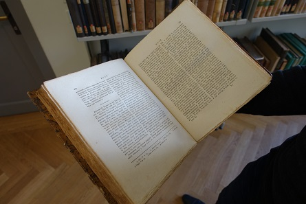 Ein Blick in Eckhels Doctrina numorum veterum. Foto: UK.