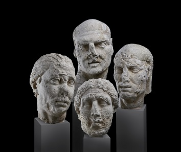 Roman portrait heads. Lent by Museo archeologico regionale 'Paolo Orsi' di Siracusa. Photo: © Ashmolean Museum, University of Oxford.