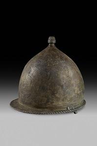 Montefortino helmet. Photo: © Soprintendenza per i Beni culturali e ambientali del Mare, Palermo. Photo by Ashmolean Museum, University of Oxford.