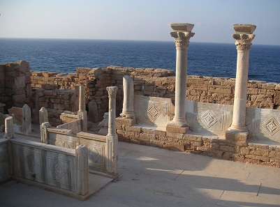 Byzantine Church ruin in Athrun. Photo: © Vincent MICHEL, French Archaeological Mission in Libya.