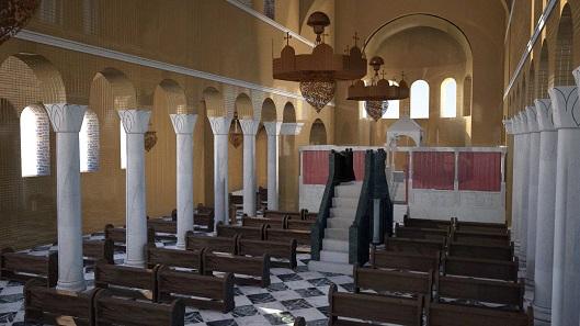CGI reconstruction of a Byzantine church. Photo: ©Stan Verbeek VODAL Virtual Heritage Reconstructions.