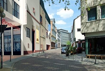 Das Romantik-Museum mit der Spiegel-Passage in die Goethehöfe, Bild: Planungsgemeinschaft Goethehöfe Landes/Mäckler. Foto: Ichschreibeneu / https://creativecommons.org/licenses/by-sa/4.0/deed.en