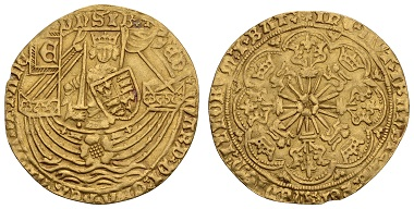 Lot 10185, Edward IV, rose noble, 2000 euros