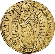 Los 5714: VATIKAN. Gregor XV., 1621-1623. Quadrupla o. J., Rom. Sehr selten. Sehr schön. Taxe: 20.000,- Euro.