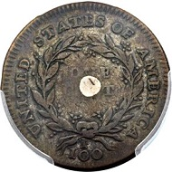 Lot 3951: 1792 P1C One Cent, Judd-1, Pollock-1, High R.6 SP35 PCGS Secure. CAC. From the Palos Verdes Collection, Part 1.
