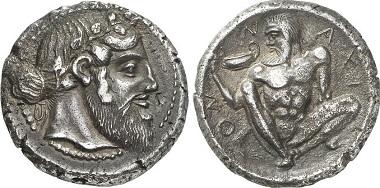 Naxos. Tetradrachme, ca. 460. Aus Auktion Gorny & Mosch 215 (2013), 695.