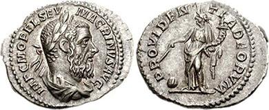 Macrinus. Denar. Ex CNG 73, n. 955. 3,15 g.