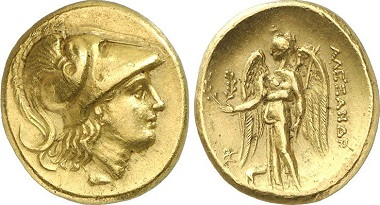 Stater, 311-295, Ekbatana. Nach dem Vorbild der Statere Alexanders. Aus Auktion Gorny & Mosch 215 (2013), 782.