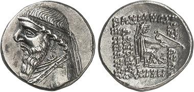 Parther. Mithradates II., 123-88, Ekbatana. Aus Auktion Gorny & Mosch 229 (2015), 1449.