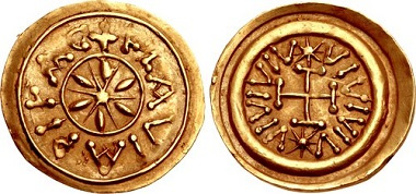 Lot 962: LOMBARDS, Tuscany. Municipal coinage. Circa 700-750. Tremissis. Pisa mint. BMC Vandals p. 150, note 1. Extremely fine. Estimate: $25,000.