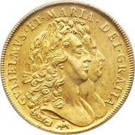 Lot 32301: Great Britain 1692 William & Mary gold