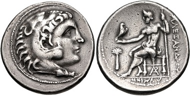 Lot 137: Phoenicia, Arados. Circa 246/5-168/7. Tetradrachm. Dated CY 25 (235/4 BC). Duyrat 1192 (D9/R43); Price3372; DCA 754. VF, toned. From the collection of Will Gordon. Estimate: $200.