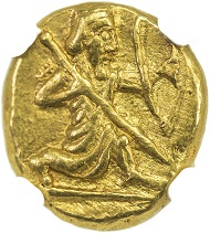 Lot 43: ACHAIMENID: Middle Period, ca. 420-375 BC, daric.
