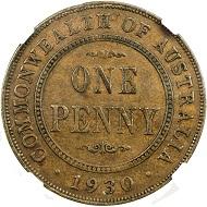 Lot 1753: AUSTRALIA: George V, 1910-1936, penny.