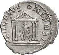 Antoninian, Köln, 263. Rv. HERC DEVS-ONIENSI Giebeltempel, darin Hercules. Aus der kommenden Auktion Jacquier 42 (16.9.16), Nr. 531. Fast vorzüglich. Taxe: 200 Euro.