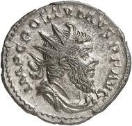 Antoninian, Köln, 263. Rv. VICTORI-A GERMANICA Victoria n. r. Aus der kommenden Auktion Jacquier (16.9.16), Nr. 533. Vorzüglich. Taxe: 1.500 Euro.